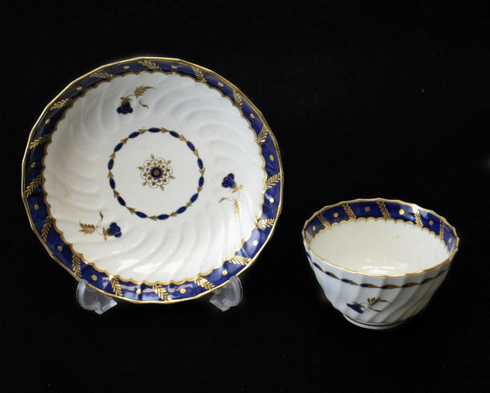 Royal Worcester Dr. Wall  Tea Bowl & Saucer