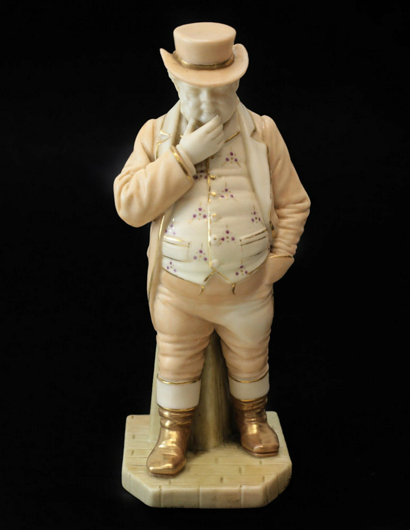 Royal Worcester Blush Porcelain John Bull Figurine