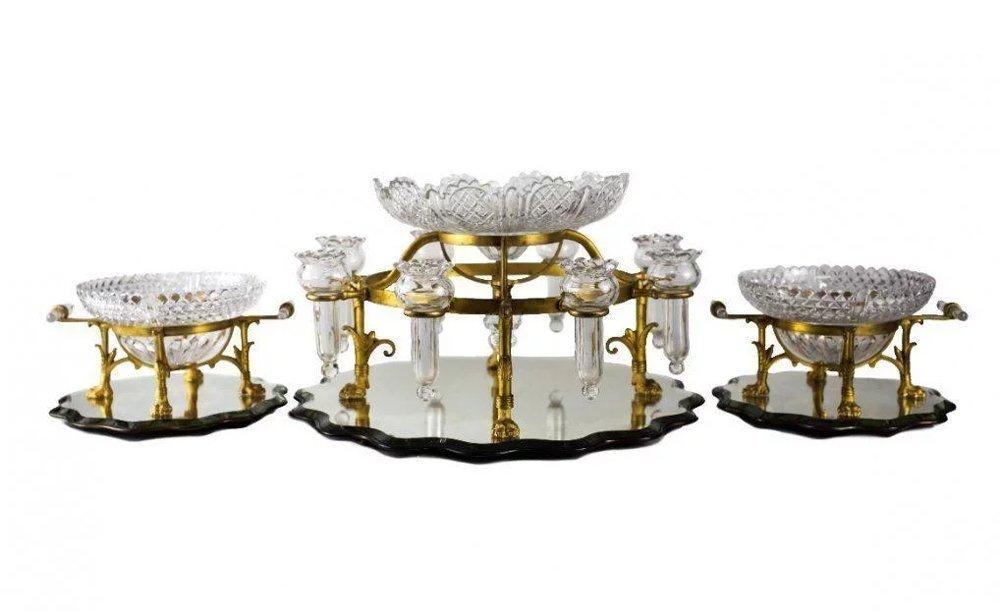 F & C Osler Ormolu Epergne Table Garniture