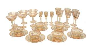 30pc Venetian Art Glass Service for 6