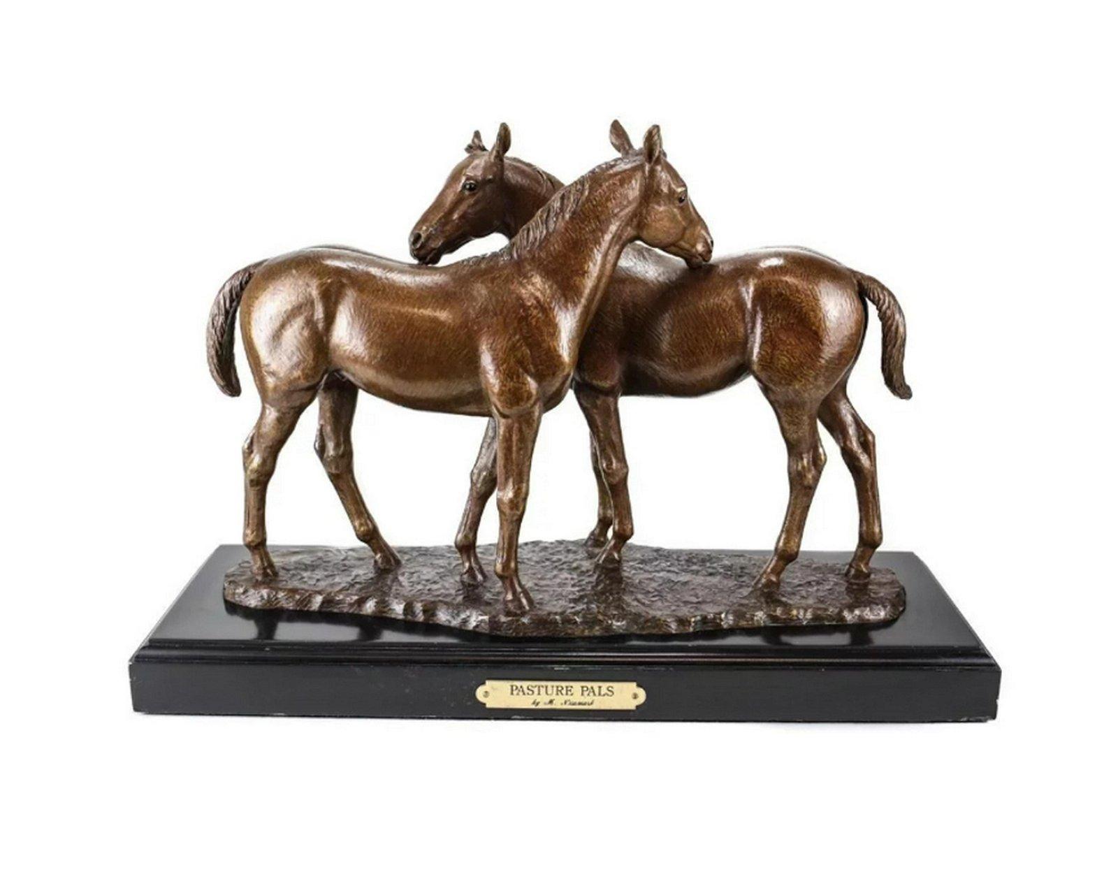 Marilyn Newmark Bronze Sculpture Pasture Pals Signed AP