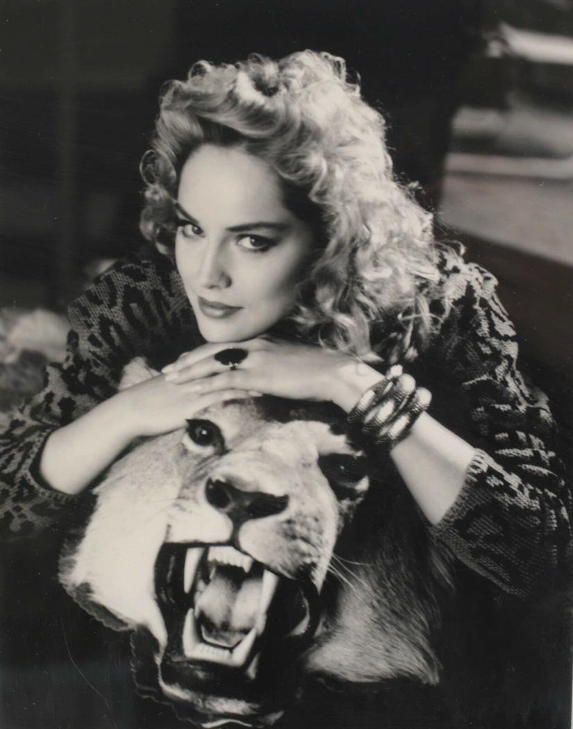 Sharon Stone by George Hurrell Portrait Photo Framed