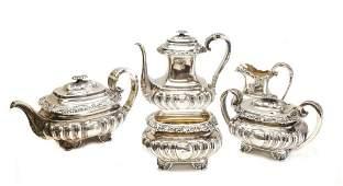 5 Gorham Sterling Silver Tea & Coffee Service Set