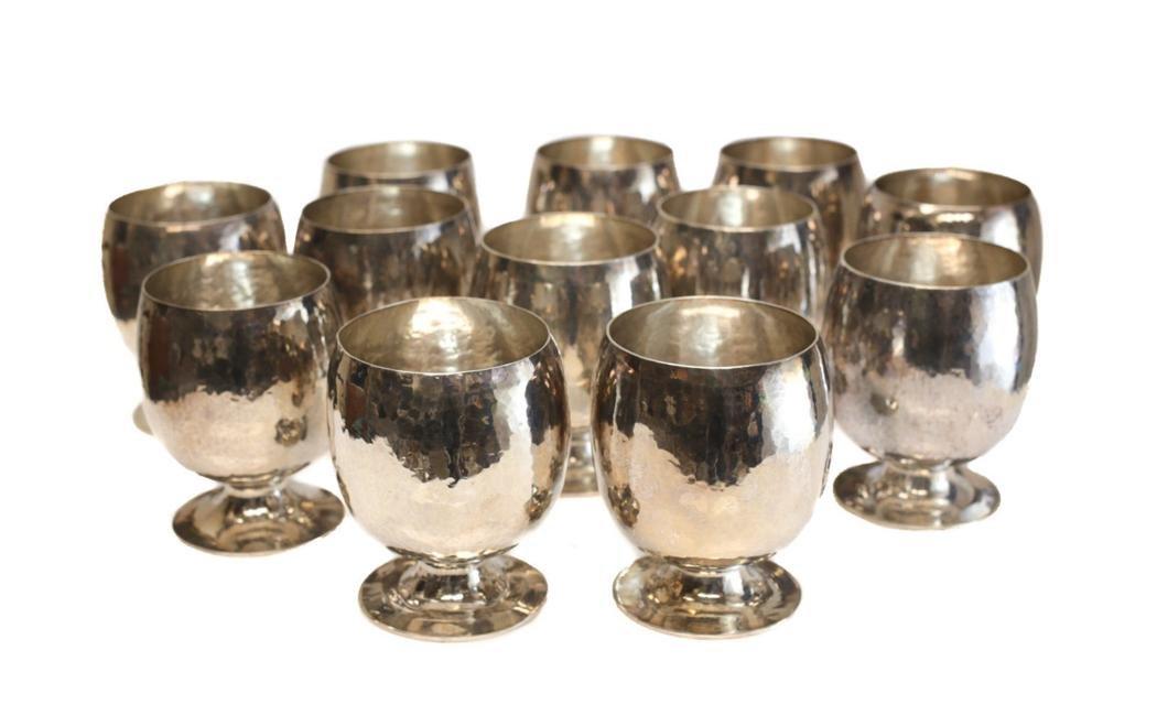12 Buccellati Sterling Silver Brandy Sniffers
