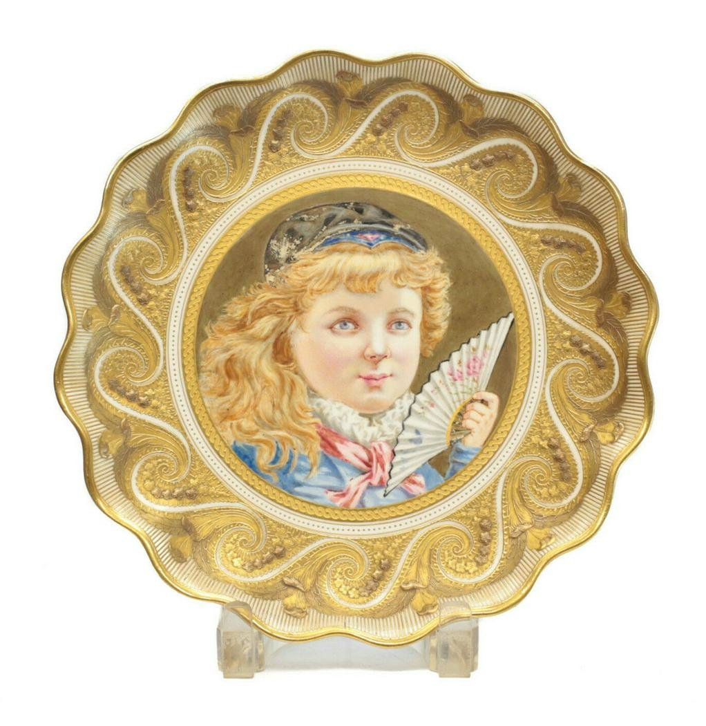 Wedgwood Cabinet Plate, Girl with a Fan