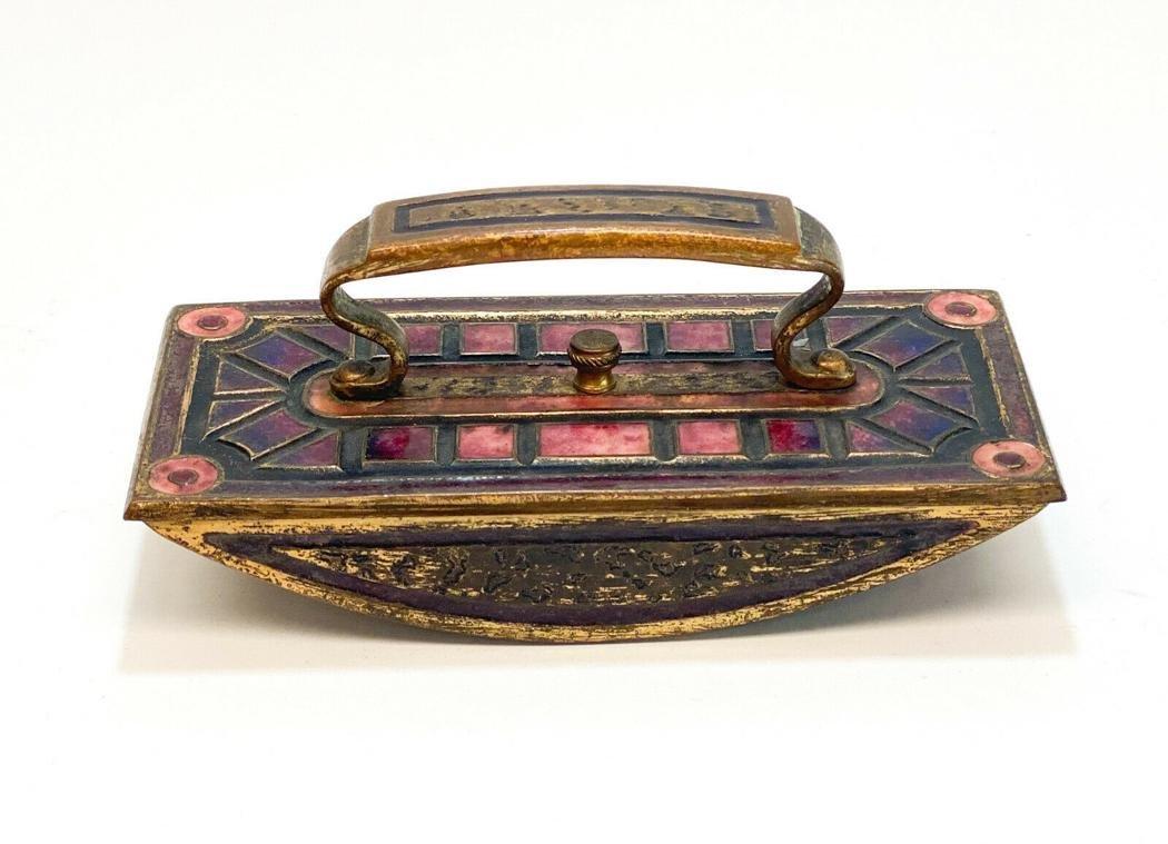 LCT Tiffany Furances Favrile Enamel Gilt Bronze Ink