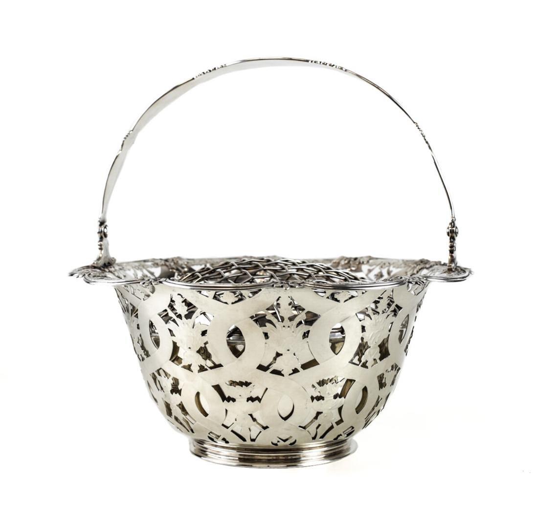 Tiffany & Co Sterling Silver Flower Basket John C Moore