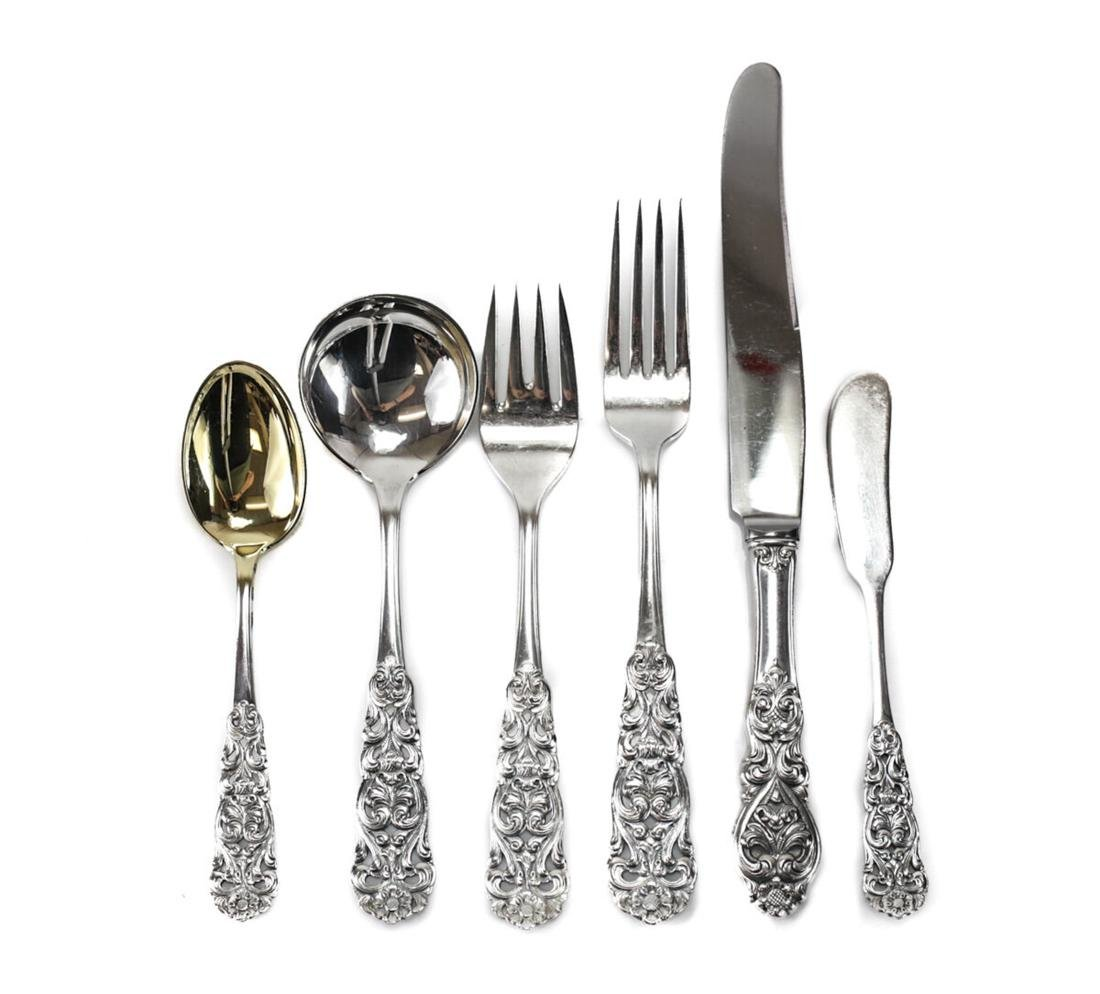 Sterling Silver Flatware Set, Th Marthinsen in Valdres