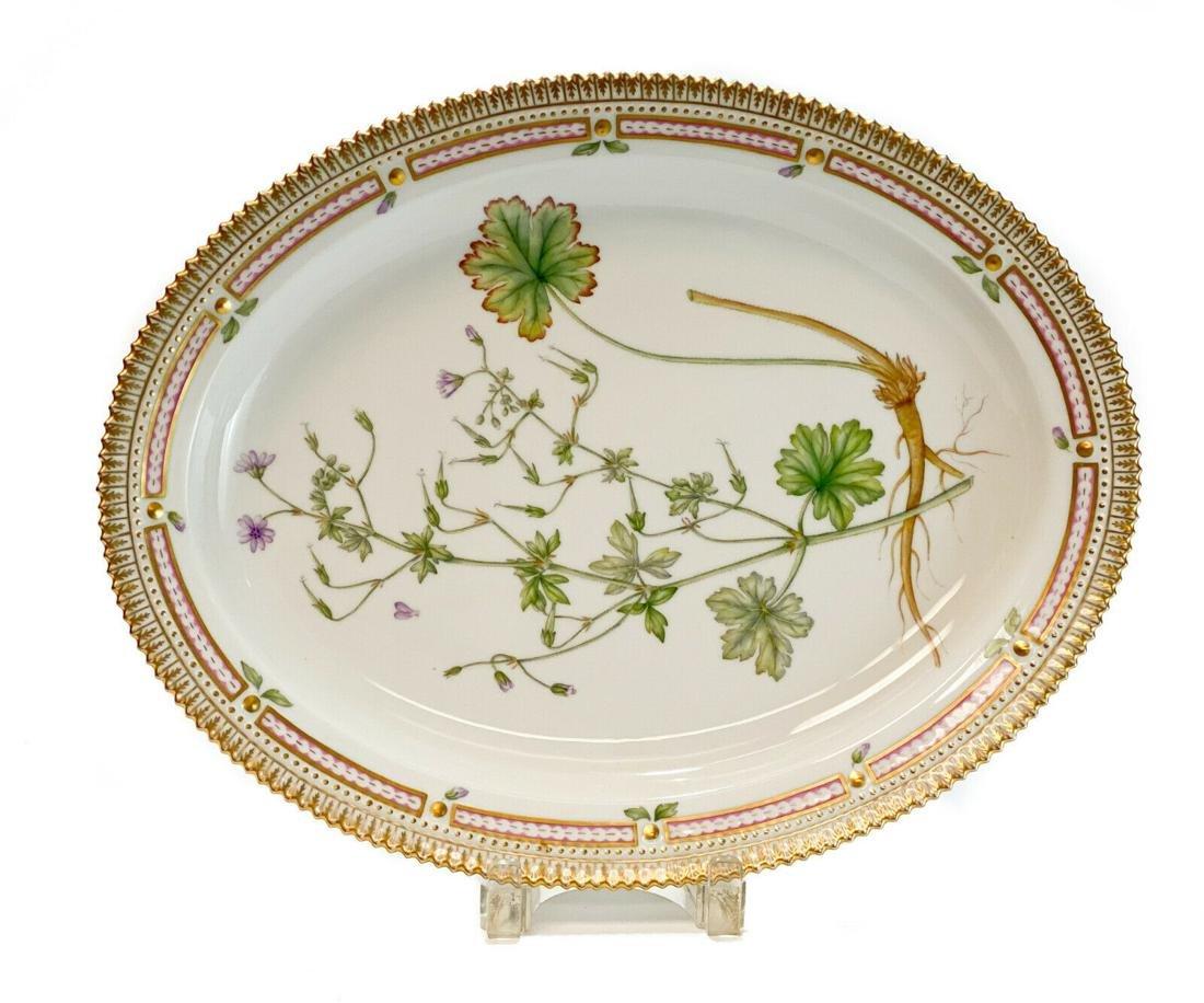 Royal Copenhagen Hand Painted Flora Danica Platter