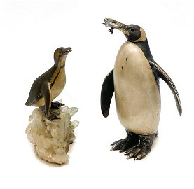 Buccellati Silver Penguin Figural Group by Minotto