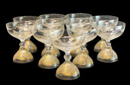 11 Rosenthal Gold Magic Flute Champagne by Wiinblad