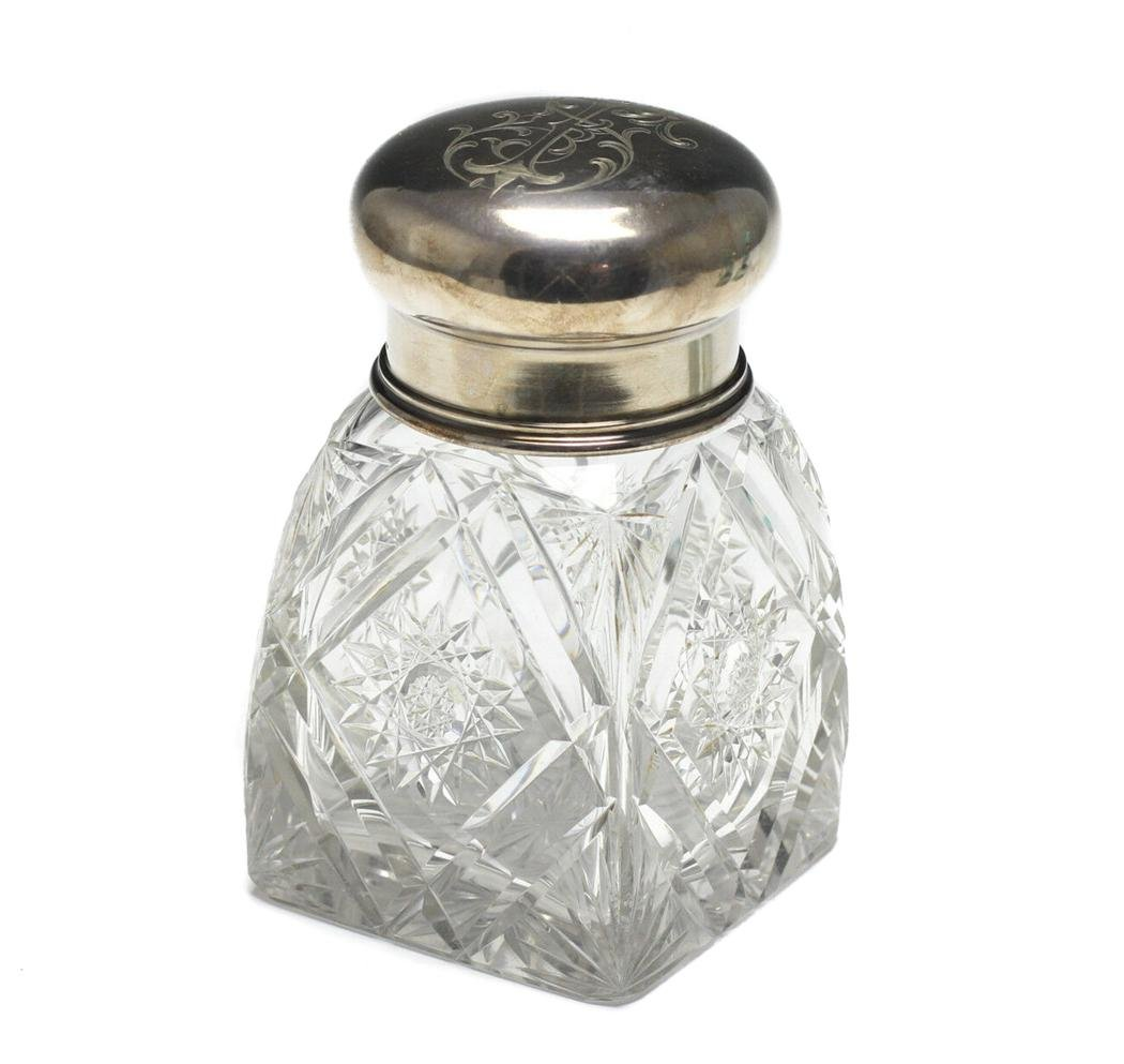 Austrian Silver and Cut Crystal Perfume Bottle