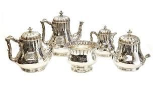 Tiffany Sterling Silver Coffee  Tea Service c1860