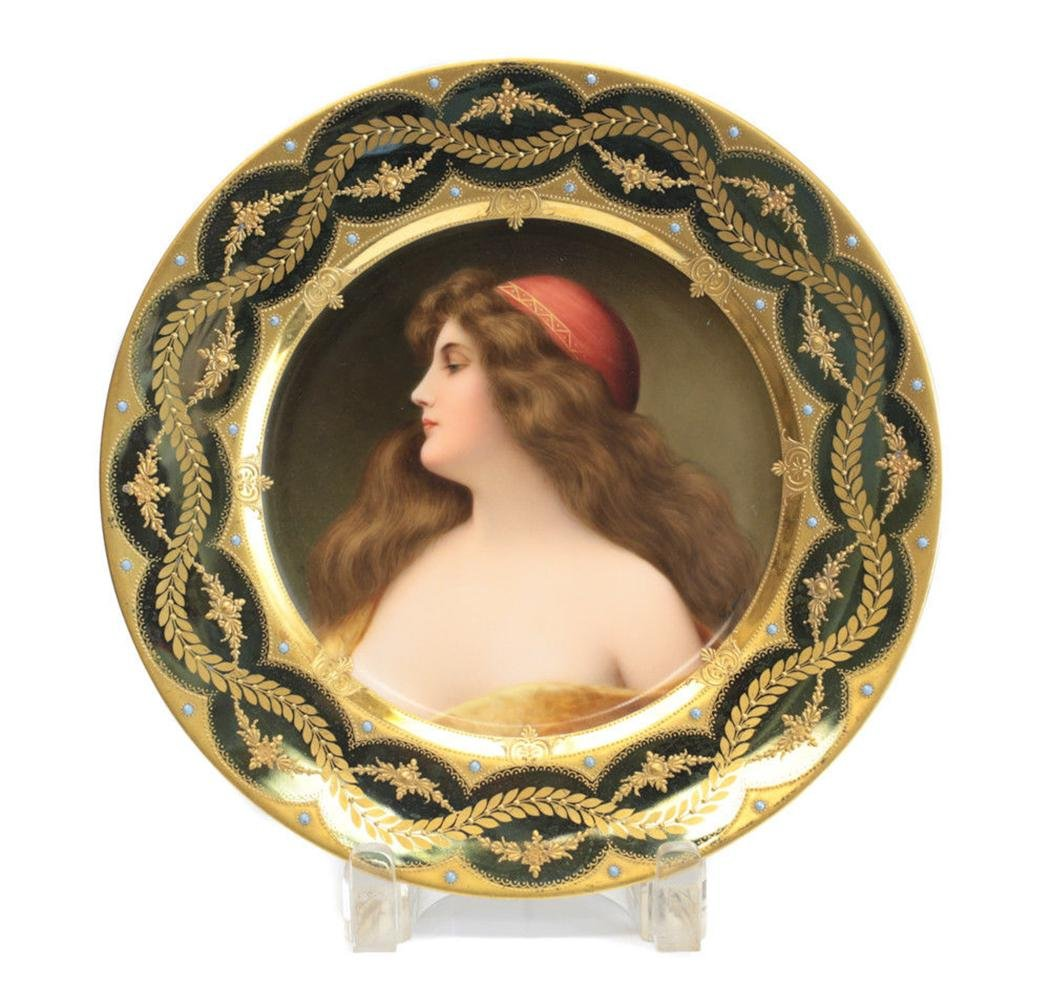 Royal Vienna Cabinet Plate, circa 1900. Signed Wagner