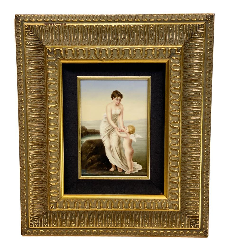 Hand Painted Porcelain Plaque