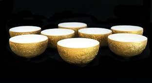 8 Rosenthal Magic Flute Fruit Bowls by Bjorn Wiinblad