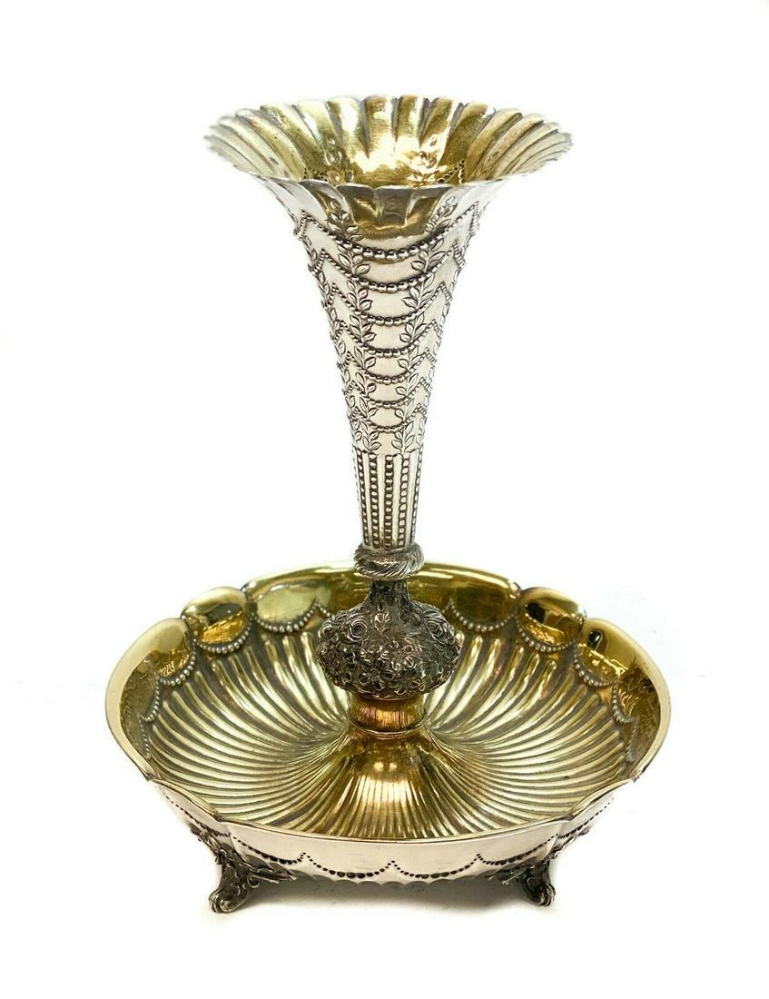 Gorham Sterling SilvernFluted Vase, 19th C.