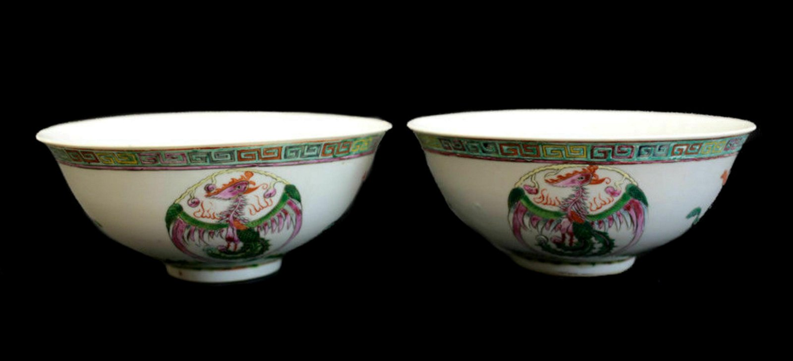 A Pair of Chinese Porcelain Bowls, Guangxu Mark