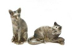 Tiffany & Co. Sterling Silver Cat Salt & Pepper Shakers