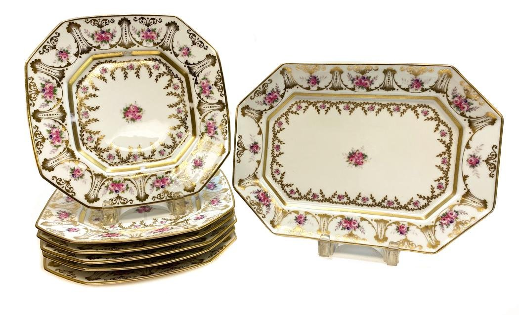 Limoges Dessert service for 8 retailed by Tiffany