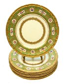 8 Royal Crown Derby Bread & Butter Plates