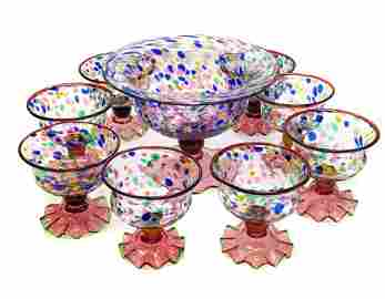 MacKenzie Childs Dessert Set for 8 in Molten Confetti