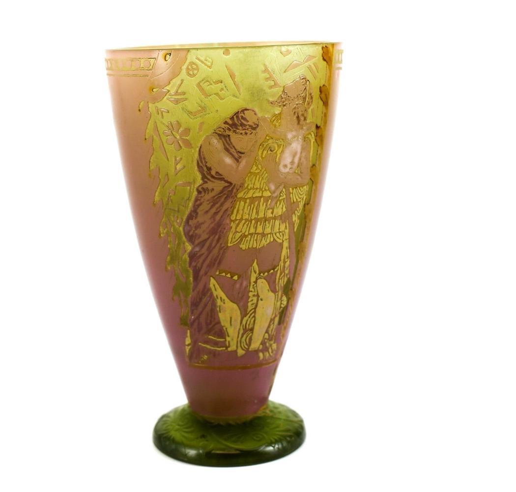 Vallerysthal Cameo Art Glass Vase