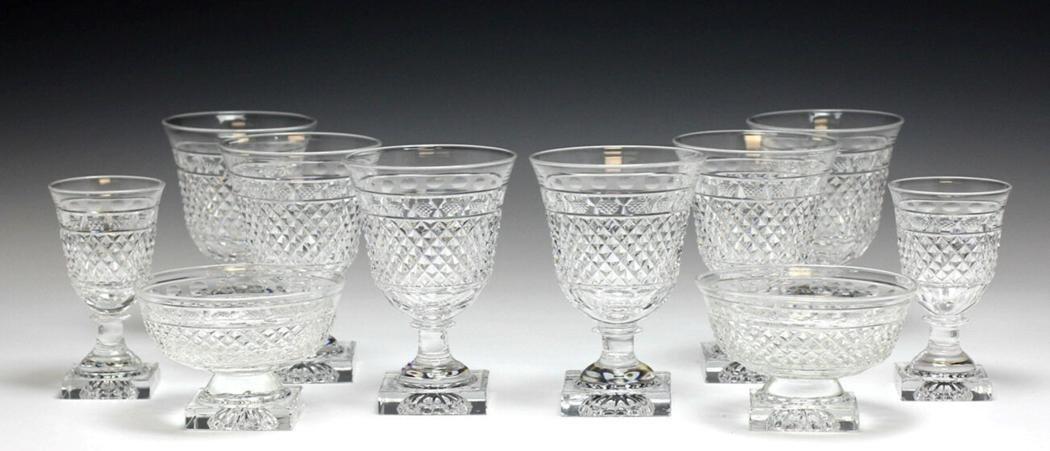 10 Kosta Edvin Ollers Cut Crystal Goblets