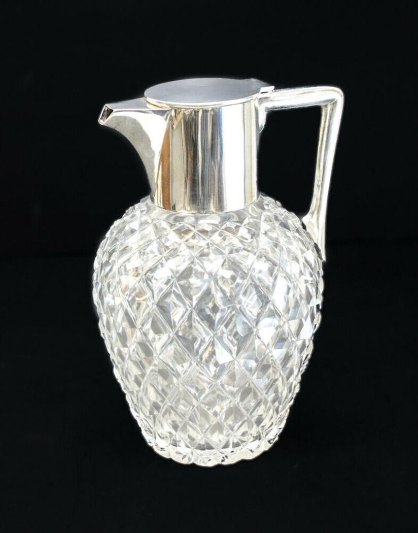 Mappin & Webb Sterling Silver & Cut Glass Pitcher