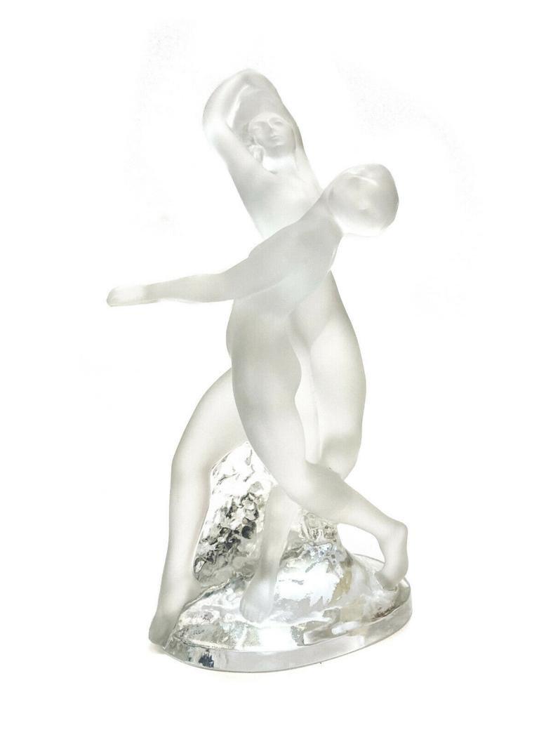 Lalique Dancing Nudes Deux Danseuses Sculpture