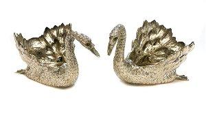 Pair Pradella Ilario Silver Swan Bowls