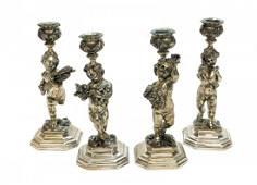 4 Caputo for Ugo Bellini Firenze 800 Silver