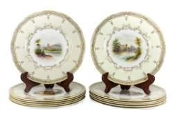 12 pc Royal Worcester Porcelain Cabinet Plates
