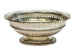 Pradella Ilario Puiforcat Sterling Silver  Oval Bowl