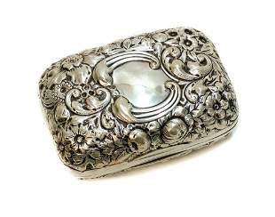 Gorham Sterling Silver Repousse Soap Box #28, 1910