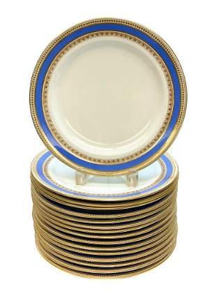 16 Royal Worcester for Tiffany Dinner Plates