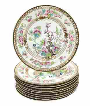 10 Royal Doulton England Porcelain Indian Tree Dinner