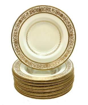 10 Minton England Porcelain Rimmed Soup Bowls