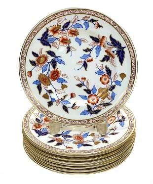 9 Royal Worcester  Porcelain Dessert Plates