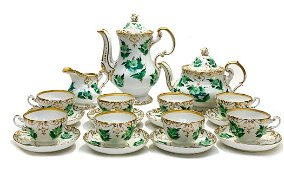 KPM Berlin Porcelain Coffee and Tea Service Set for 8