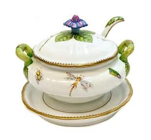 Anna Weatherley Hungary Porcelain Sauce Tureen Ivy