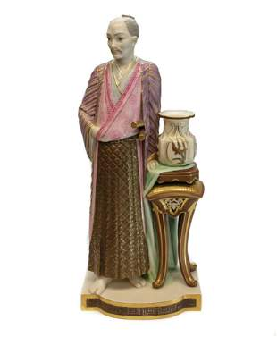Royal Worcester Porcelain Japanese Man Figure by Hadley