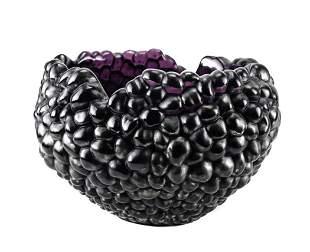 "Lalique Amethyst ""Raspberry"" Bowl, Ltd Ed 21"