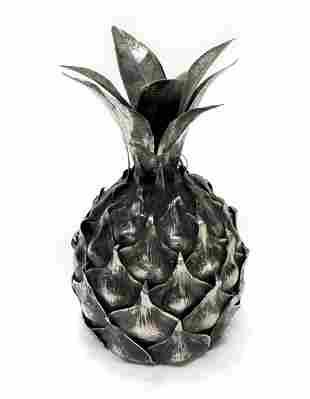 Mario Buccellati 800 Italian Silver Pineapple Lighter