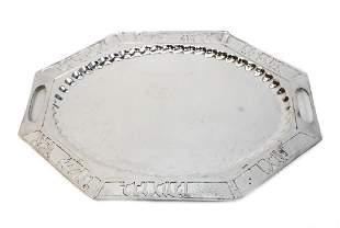Sterling Silver Bread Tray