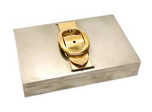 Hermes Silver Plate Cigar Box
