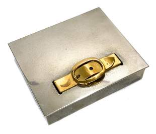 Hermes Silver Plate Notepad Box