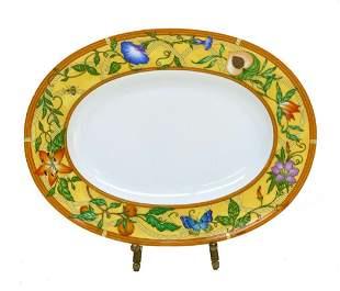 Hermes Porcelain Oval Pickle Dish in La Siesta
