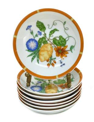 7 Hermes Paris Porcelain Sauce Dishes in La Siesta