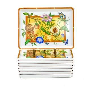 8 Hermes Porcelain Sushi Trays in La Siesta